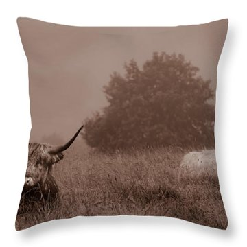 Resting Beasts Throw Pillow