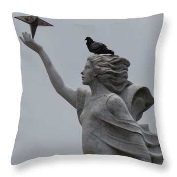 Throw Pillow featuring the photograph Resting by Beth Vincent