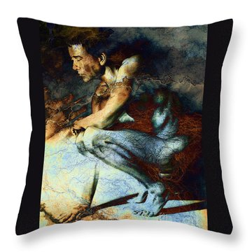 Resting Drawing With Texture Throw Pillow