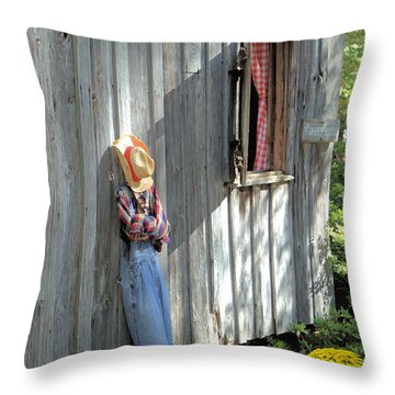 Throw Pillow featuring the photograph Resting by Gordon Elwell