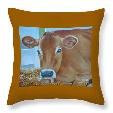 Resting Jersey Mom Throw Pillow by K L Kingston