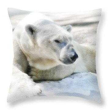 Resting Throw Pillow by Karol Livote