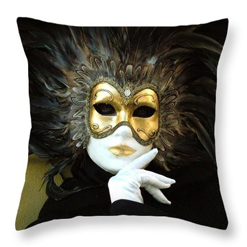 Resting On Her Hand Throw Pillow