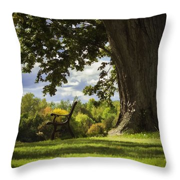 Resting Place For Mind And Body Throw Pillow