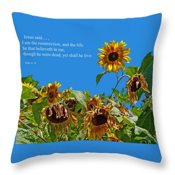 Resurrected Life Throw Pillow by Tikvah's Hope