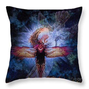 Resurrection Throw Pillow by Lianne Schneider