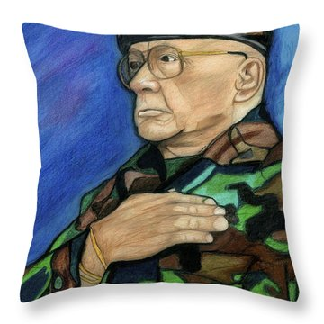 Ret Command Sgt Major Kittleson Throw Pillow