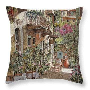 Rethimnon-crete-greece Throw Pillow by Guido Borelli