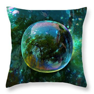 Reticulated Dream Orb Throw Pillow