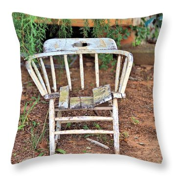 Throw Pillow featuring the photograph Retired by Gordon Elwell