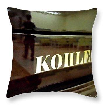 Retired Kohler Piano Throw Pillow by Danielle  Parent