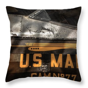 Retired Mail Carrier - Pitcairn P-6 Mailwing 1929 Throw Pillow by Gary Heller