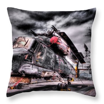 Retired Pilot Throw Pillow