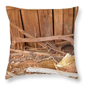 Throw Pillow featuring the photograph Retired Tools by Nick Kirby