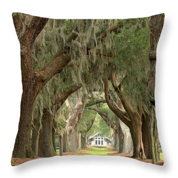 Retreat Avenue Of The Oaks Throw Pillow
