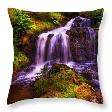 Retreat For Soul. Rest And Be Thankful. Scotland Throw Pillow by Jenny Rainbow
