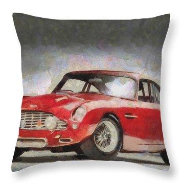 Retro Aston Martin Db5 1963-1965 Throw Pillow