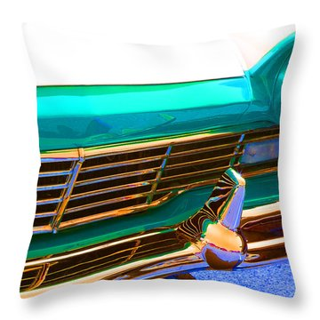 Throw Pillow featuring the photograph Retro Auto One by Denise Beverly