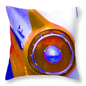 Throw Pillow featuring the photograph Retro Auto Three by Denise Beverly