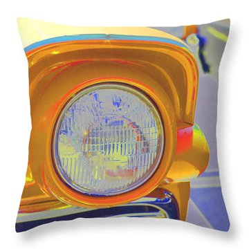 Throw Pillow featuring the photograph Retro Auto Two by Denise Beverly