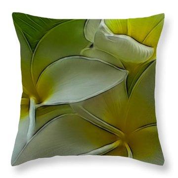 Retro Bloom Throw Pillow