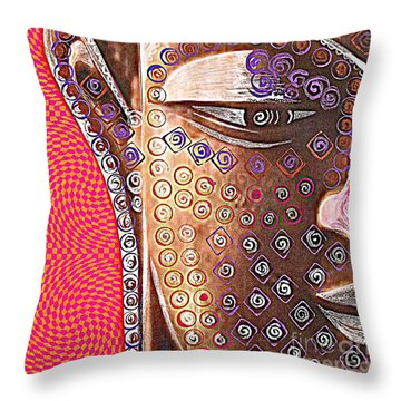 Retro Buddha Throw Pillow