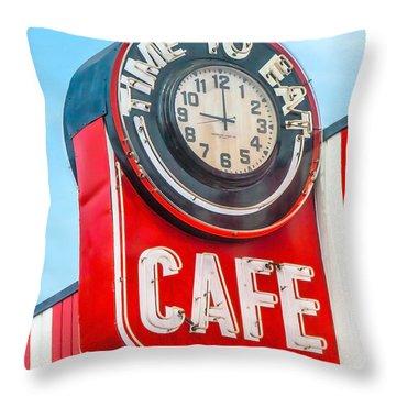 Retro Cafe Throw Pillow