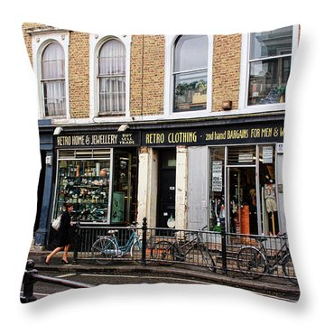 Retro Clothing Throw Pillow by Nicky Jameson