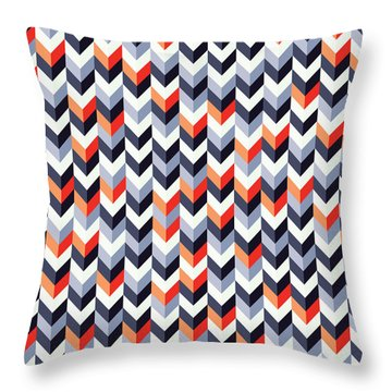 Retro Geometric Throw Pillow