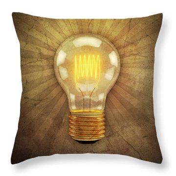 Electric Light Throw Pillows