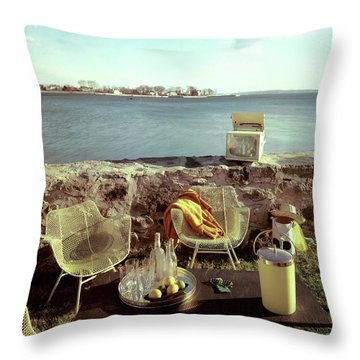 Retro Outdoor Furniture Throw Pillow