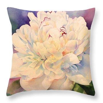 Retro Petals Throw Pillow