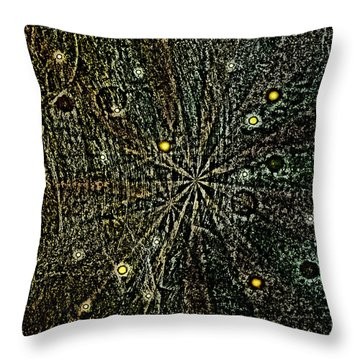 Retro Planets Throw Pillow by Steve Ball