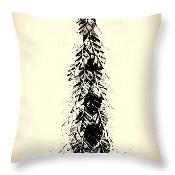 Retro Xmas Throw Pillow by Jacqueline McReynolds