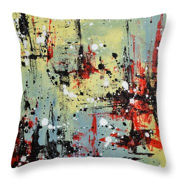 Retroactive Throw Pillow by Kim Sobat