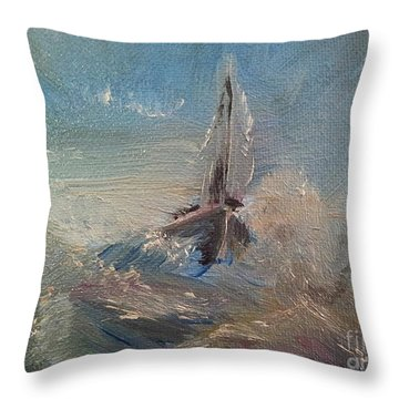 Return To Shores Throw Pillow