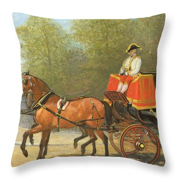 Returning From Her Majestys Drawing Room Throw Pillow by Alfred Corbould