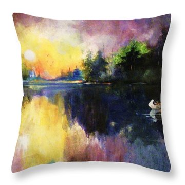 Returning From The Hunt Throw Pillow