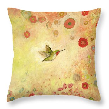 Returning To Fairyland Throw Pillow
