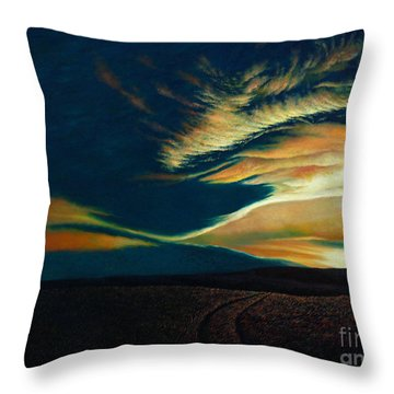 Returning To Tuscarora Mountain Throw Pillow by Christopher Shellhammer
