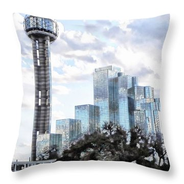 Reunion Tower Dallas Texas Throw Pillow