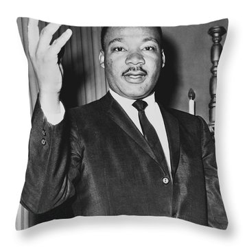 Rev. Martin Luther King Throw Pillow