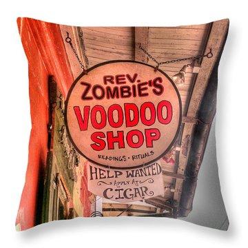 Rev. Zombie's Throw Pillow