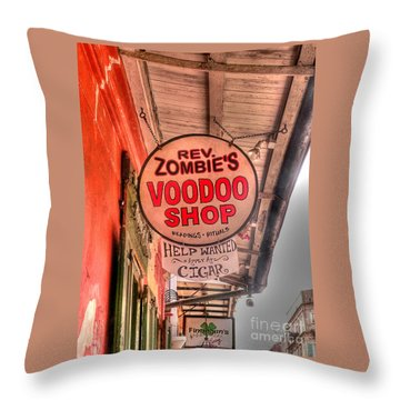 Rev. Zombie's Throw Pillow