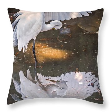 Revealed Close-up Throw Pillow