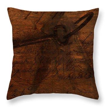 Revealing The Secret Throw Pillow by Lesa Fine