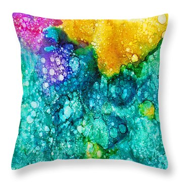 Throw Pillow featuring the painting Revelation by Angela Treat Lyon