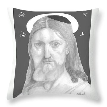 Throw Pillow featuring the drawing Revelations by Terry Frederick