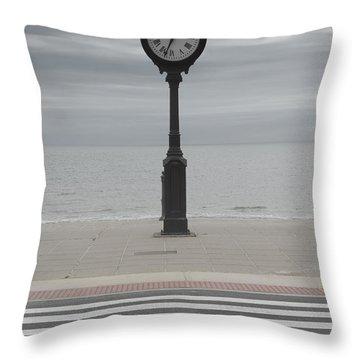 Revere Beach Throw Pillow by Juli Scalzi