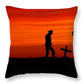 Cowboy Reverence Throw Pillow